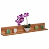 Bamboo L Shaped Wall Shelf