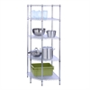 Honey Can Do 5-Tier Corner Shelf, Chrome
