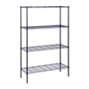 4-Tier 350Lbs, 18X48x72 Blk, Black