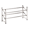 Honey Can Do Expandable Shoe Rack, Chrome