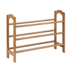 3-Tier Bamboo Shoe Rack, Natural Finished Bamboo