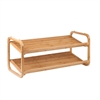 2-Tier Stackable Bamboo Shoe Shelf