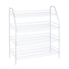 4-Tier Wire Shelf, White
