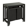 Honey Can Do Double Sorter Folding Table, Black