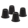 6In Black Round Bed Risers