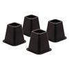 Bed Risers-Blk Set Of 4, Black
