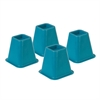 Honey Can Do Bed Risers - Blue