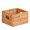 Honey Can Do 3Pc Nesting Water Hyacinth Baskets, Natural / Brown