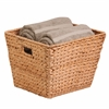 Large Tall Square Water Hyacinth Basket