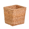 Medium Square Water Hyacinth Basket, Natural / Brown