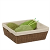 Parchment Cord Basket W/Liner, Brown