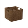 Parchment Cord Crate, Brown
