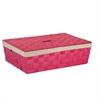 Paper Rope Underbed Baskt, Pink