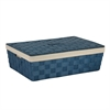 Paper Rope Underbed Baskt, Blu, Blue