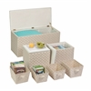 7Pc Ottoman Storage Set, Cream