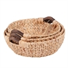 3Pc Round Natural Baskets