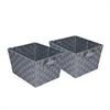 2Pk Woven Baskets, Gray, Silver