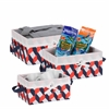 Honey Can Do Twisted Tote Set Of 3 (Navy, Orange, White)