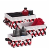 Honey Can Do Twisted Tote Set Of 3 (Black, Red, White)