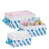 Honey Can Do Twisted Tote Set Of 3 (Pink, Blue, White)