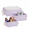 Zig Zag Set Of 3 Baskets - Lilac