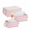 Zig Zag Set Of 3 Baskets - Pink