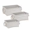 Zig Zag Set Of 3 Baskets - Gray