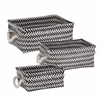 Zig Zag Set Of 3 Baskets - Black