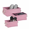 Zig Zag Set Of 3 Baskets - Hot Pink