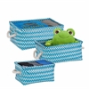 Zig Zag Set Of 3 Baskets - Blue