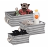 Zig Zag Set Of 3 Baskets - Dark Gray