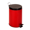 Honey Can Do 12L Step Trash Can, Red, Ruby