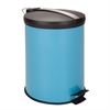 12L Step Trash Can, Blue W Stainless