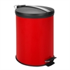12L Step Trash Can, Red W Stainless