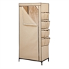 Honey Can Do 27In Storage Closet With Shoe Organizer, Khaki