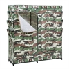 Honey Can Do 60In Double Door Storage Closet- Camouflage With Shoe Organizer, Camouflage- Green And Black