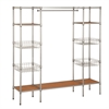 Honey Can Do Freestanding Steel Closet With Basket Shelves, Powder Coat / Plastic