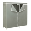 "60"" Steel Frame Wardrobe, Gray"