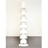 Proman Products Hancock Tower spine shelf, Brilliant white wood grain