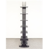 Proman Products Hancock Tower spine shelf, Rich Black wood grain