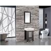 """Monaco 24"""" Single Sink Bathroom Vanity Set, Espresso"""