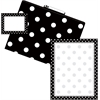 Barker Creek Get Organized Black Dots - Set of 12 File Folders, 50 Sheets Paper, 45 Labels