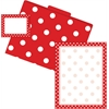 Get Organized Red Dots - Set of 12 File Folders, 50 Sheets Paper, 45 Labels