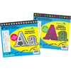 "Letter Pop-Out Set of 4"" White Chalk & 4"" Rainbow Chalk"