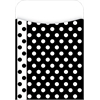 Barker Creek Peel & Stick Black & White Dot Pockets Set of 30