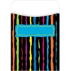 Peel & Stick Neon Stripes Pockets Set of 30