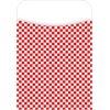 Red Check Pockets Set of 30