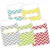 Peel & Stick Pockets - Chevron Beautiful, Multi-Design Set of 30