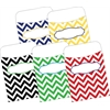 Peel & Stick Pockets - Chevron Nautical, Multi-Design Set of 30