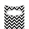 Barker Creek Peel & Stick Pockets - Chevron Black Tie Affair, Multi-Design Set of 30